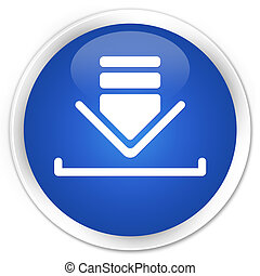 Download icon premium blue round button