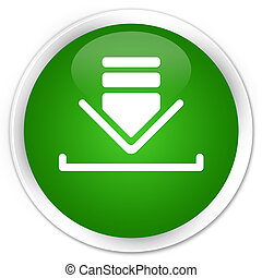 Download icon premium green round button