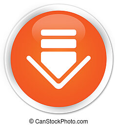 Download icon premium orange round button
