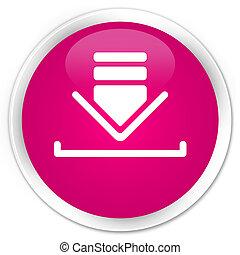 Download icon premium pink round button