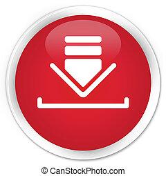Download icon premium red round button