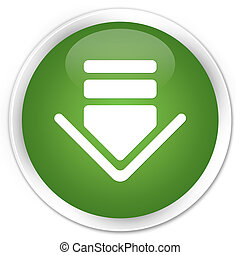 Download icon premium soft green round button