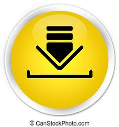 Download icon premium yellow round button