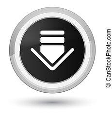 Download icon prime black round button