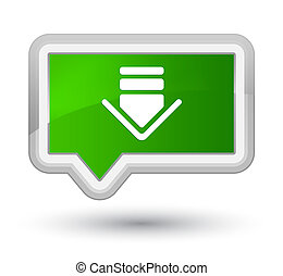 Download icon prime green banner button