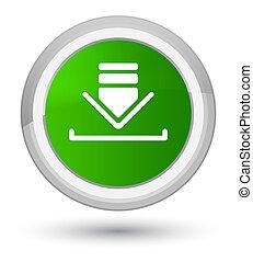 Download icon prime green round button