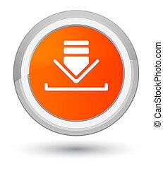 Download icon prime orange round button
