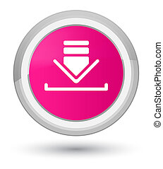 Download icon prime pink round button
