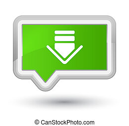 Download icon prime soft green banner button