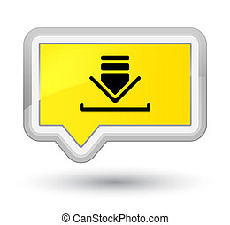 Download icon prime yellow banner button