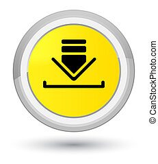 Download icon prime yellow round button