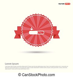 Download Icon - Red Ribbon banner