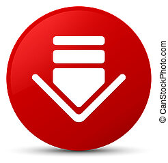 Download icon red round button