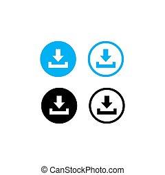 Download icon set symbol vector