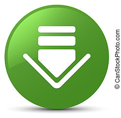 Download icon soft green round button