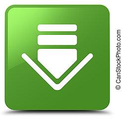 Download icon soft green square button