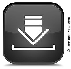 Download icon special black square button