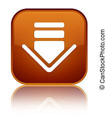 Download icon special brown square button