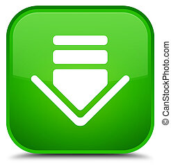 Download icon special green square button