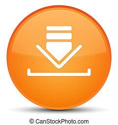 Download icon special orange round button