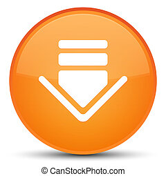 Download icon special orange round button
