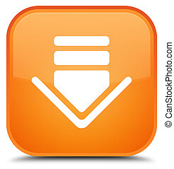 Download icon special orange square button