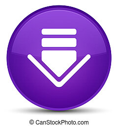 Download icon special purple round button