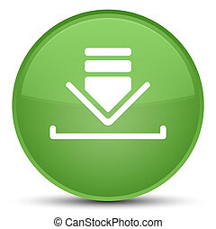 Download icon special soft green round button