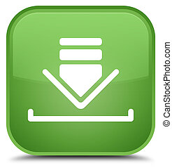 Download icon special soft green square button