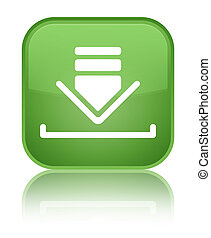 Download icon special soft green square button