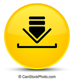 Download icon special yellow round button
