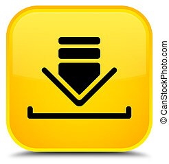 Download icon special yellow square button