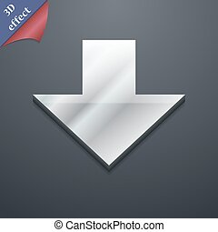 Download icon symbol. 3D style. Trendy, modern design with space for your text Vector