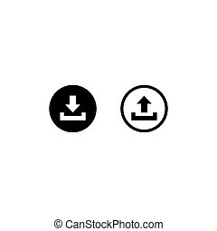 Download icon symbol, vector