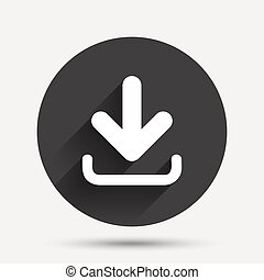 Download icon. Upload button.