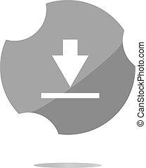 Download icon. Upload button. Load symbol. Modern UI website button