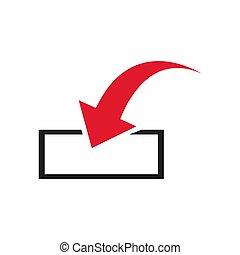 Download icon. Upload, Load sign, symbol. Vector illustration. Flat design.