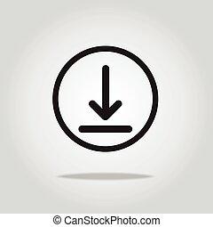 download icon, vector illustration