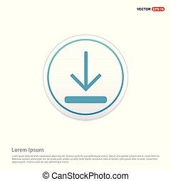 Download Icon - white circle button