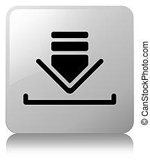 Download icon white square button