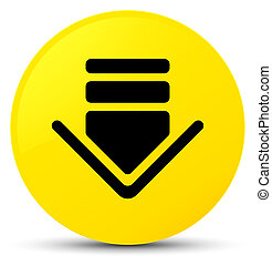 Download icon yellow round button