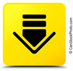 Download icon yellow square button