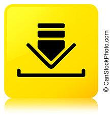 Download icon yellow square button