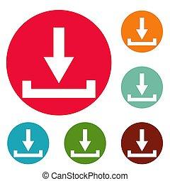 Download icons circle set