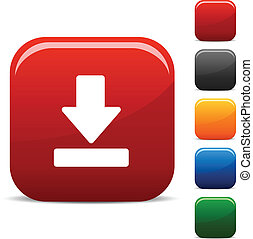 Download icon set. Vector illustration. .