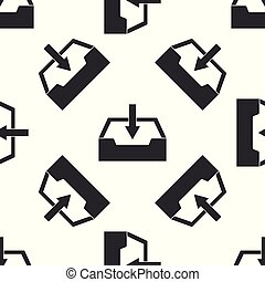 Download inbox icon seamless pattern on white background. Flat design. Vector Illustration
