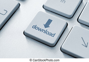 Download Key - Download button on the keyboard. Toned Image.
