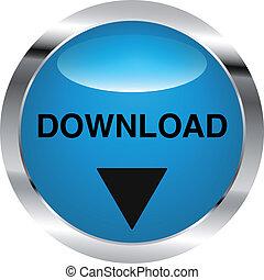 download, knap, stål
