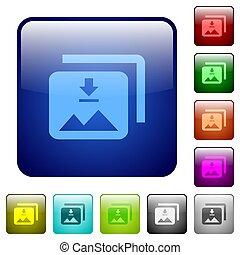Download multiple images color square buttons