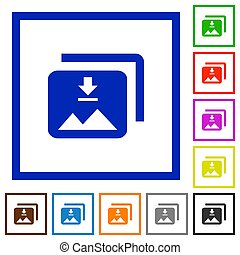 Download multiple images flat framed icons - Download...